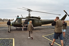 Boarding the Huey!