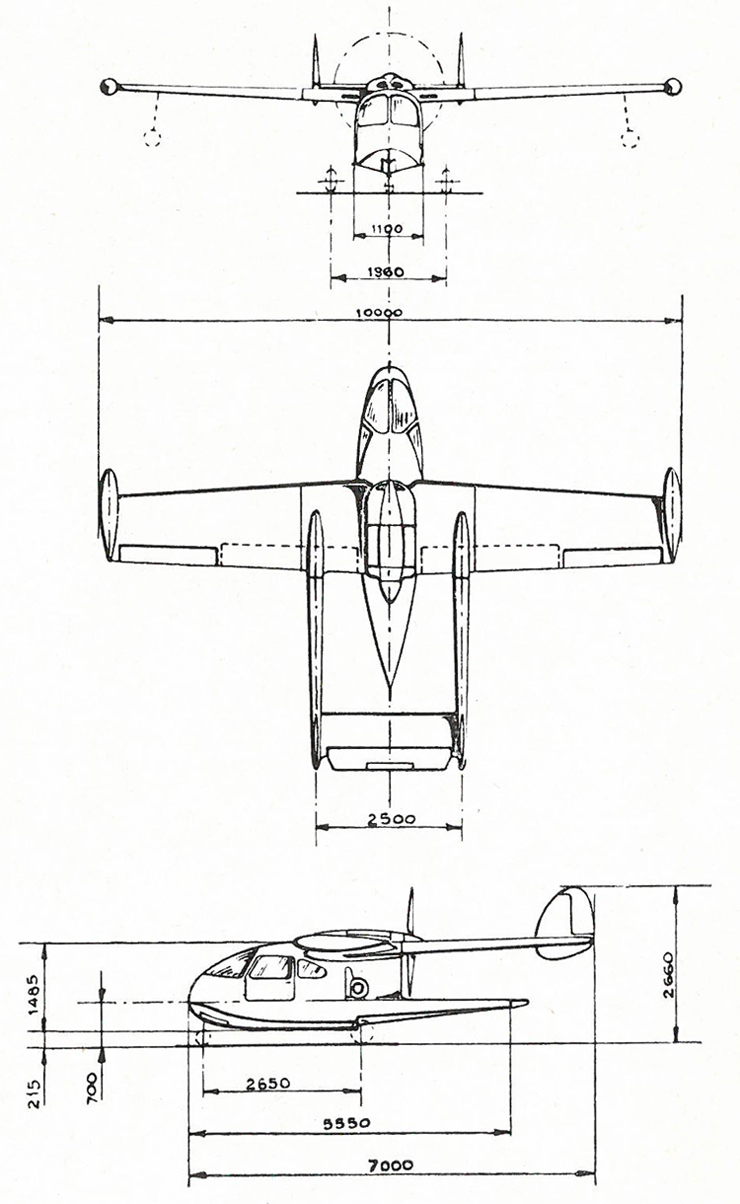 NARDI FN-333 3-view drawing